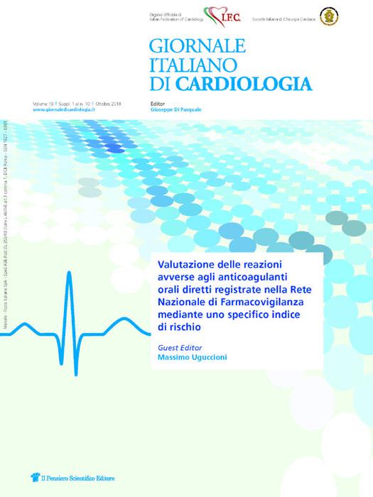 2018 Vol. 19 Suppl. 1 al N. 10 OttobreValutazione delle reazioni avverse agli anticoagulanti orali diretti registrate nella Rete Nazionale di Farmacovigilanza mediante uno specifico indice di rischio