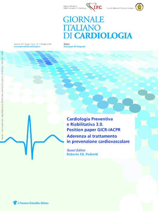 2018 Vol. 19 Suppl. 3 al N. 10 Ottobre Cardiologia Preventiva e Riabilitativa 3.0. Position paper GICR-IACPR - Aderenza al trattamento in prevenzione cardiovascolare