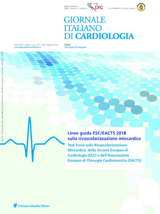 2019 Vol. 20 Suppl. 1 al N. 7 Luglio-AgostoLinee guida ESC/EACTS 2018 sulla  rivascolarizzazione miocardica
