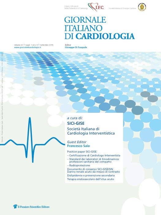 2019 Vol. 20 Suppl. 1 al N. 9 Settembrea cura di: SICI-GISE Società Italiana di Cardiologia Interventistica