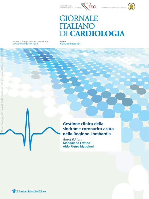 2019 Vol. 20 Suppl. 2 al N. 10 OttobreGestione clinica della sindrome coronarica acuta nella Regione Lombardia