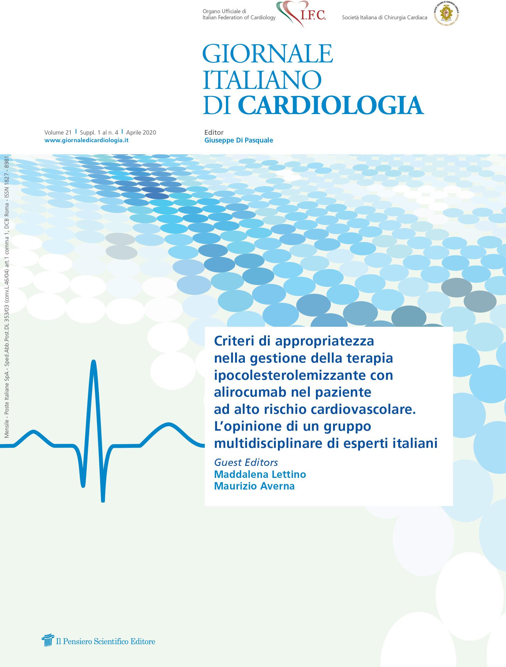 2020 Vol. 21 Suppl. 1 al N. 4 AprileCriteri di appropriatezza nella gestione della terapia ipocolesterolemizzante con alirocumab nel paziente ad alto rischio cardiovascolare
