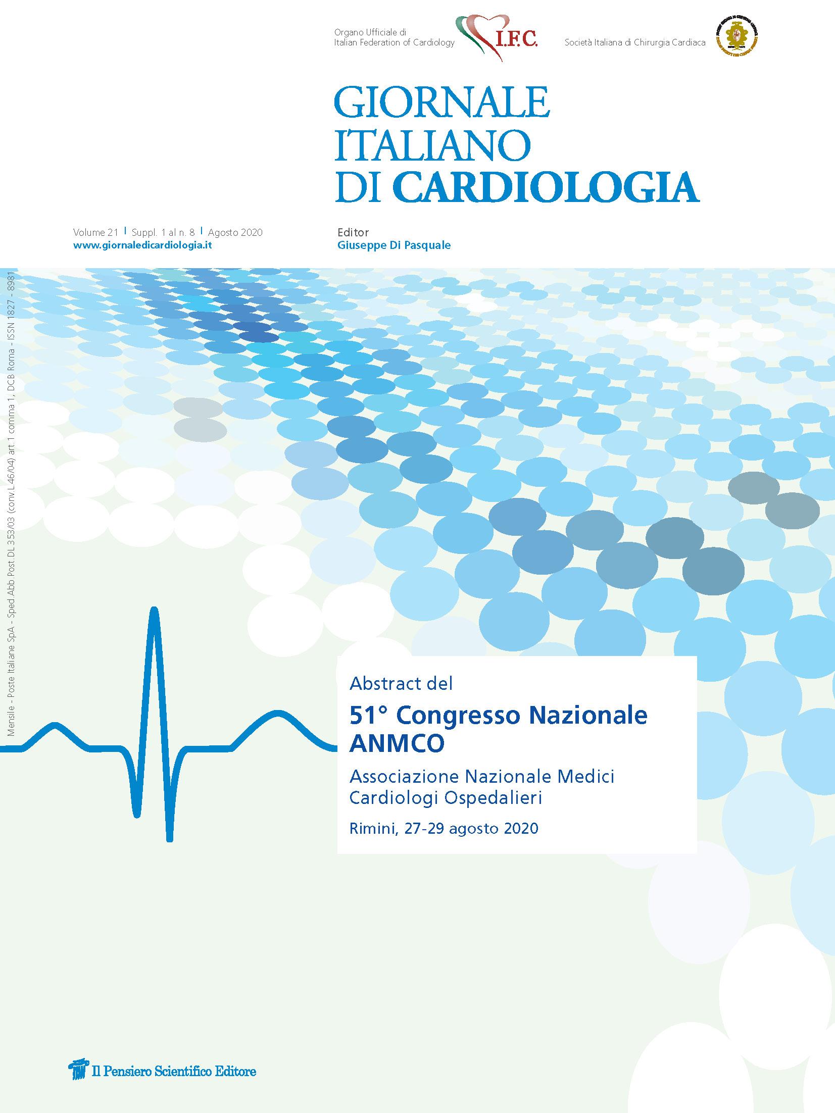 2020 Vol. 21 Suppl. 1 al N. 8 AgostoAbstract del 51° Congresso Nazionale ANMCO