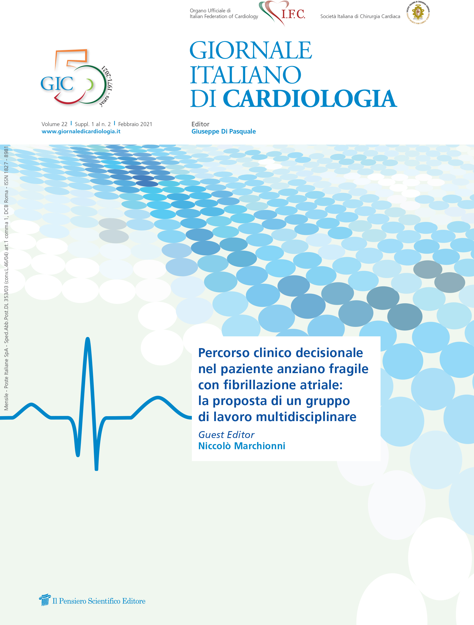 2021 Vol. 22 Suppl. 1 al N. 2 FebbraioPercorso clinico decisionale nel paziente anziano  fragile con fibrillazione atriale:  la proposta di un gruppo di lavoro multidisciplinare